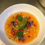 Minestrone de légumes, sorbet basilic