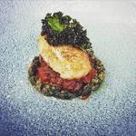 Pan Fried Turbot - Ox Cheek Ragu - Caper Salsa - Kale Crisp