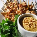 Brochettes de poulet et sauce aux cacahuètes 'Satay'