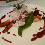 Mess...Eton Mess...blueberry sauce.