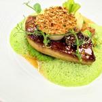 escalope de foie gras émulsion au wasabi