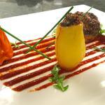 Petits légumes farcis, coulis de tomates