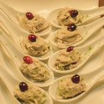 Smoked mackerel pate, cranberry, lime and ginger on crisp melba toast