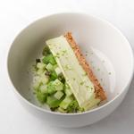 Cheesecake avocat / Tartare Kiwi & Granny smith / Espuma au Pisco