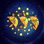 Gyozas choux chinois/gambas, sauce Gravelax