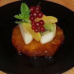 Ananas rôtie, farandole de fruits frais