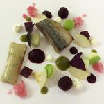Mackerel, beetroot and apple