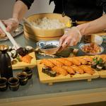 """Buffet japonais autour du saumon écossais """"Label Rouge""""."""