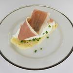 Tartine avec ricotta et jambon italien