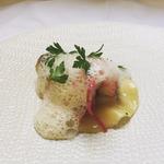 Fine raviole homard