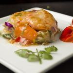 Balluchon de crevettes aux légumes croquants sauce aigre douce pimentée