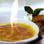 Crème brulée au basilic