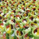 Baby Greek salad canapé... crisp and tasty