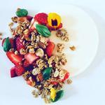 Boddington Strawberry, Yoghurt Panna Cotta, Granola, Basil