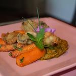 Huîtres bretonnes n°2 frites et carottes caramélisées