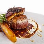 Venison Steak Haché Perigourdine, foie gras truffle