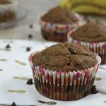 Muffins à la peau de banane