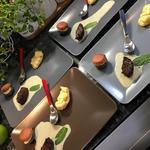 Dessert gourmand: Macaron citron, chou citron, minis moelleux chocolat coeur coulant
