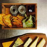 British Cheeses, Crackers, Malt Loaf, Honey and Chutney