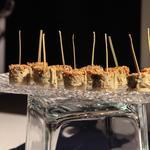 Millefeuille d'artichaut & foie gras au sésame