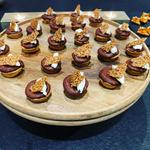 Chocolate & Tahini Tarts with Mascarpone & Sesame Seed Brittle