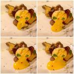 Roasted Oyster Mushrooms, Egg Yolk Gnudo