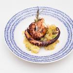 Wild smoked Sicilian octopus served on roast basil potatoes