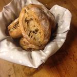 Homemade Raisin, Walnut Bread