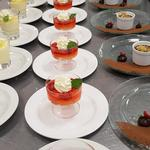 Lemon possets, Elderflower jellies and chocolate pots