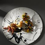 Encornet artistique, condiment mangue