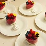 Vanilla Pannacotta with Fresh Berry Mousse