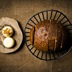 Beer soaked spelt bread & whipped chicken butter