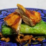 Tajine de Volaille jaune aux épices tika et cannelloni au deux choux.
