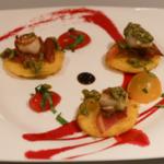 Saint Jacques, polenta et pacenta