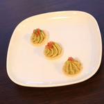 Mousseline de Safou et crackers de Manioc séché