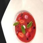 soupe de fruits rouges menthe poivrée