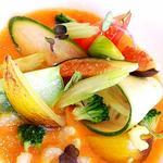 salade végétarienne et sa gelée de melon