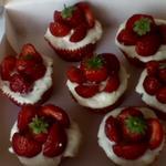 Cupcakes façon cheesecakes fraise