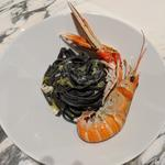 Langoustine squid ink linguini