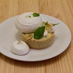 Tartelette citron basilic, meringue italienne