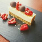 White Chocolate, Pistachio and Raspberry Tort