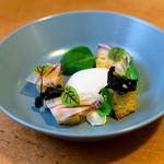 Oeuf parfait | Lardo di colonnata | Crème truffe et fromage