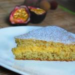 Moelleux fruits de la passion, crème de coco au zestes de citron vert