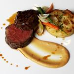 """Kentish"" Beef fillet with Dauphinoise Potato, Parsnip Puree & Seasonal Medley Of Vegetable"