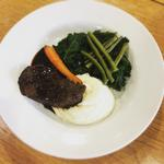Braised Feather blade Beef with rich sauce, pommee puree, vegetables
