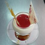 fromage blanc coulis fruit rouge