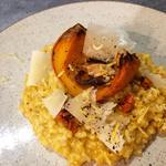 Risotto arborio, crème de potimaron et vieille tome de brebis des pyrénées basques, citron