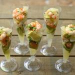 Avocat au pamplemousse aux langoustines, saveurs tahitienne