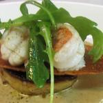 Foie gras poêlé, terre, mer, jus iodé