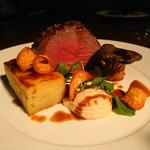 Fillet of Beef with Roasted King Oyster Mushroom, Celeriac Puree and Dauphinois